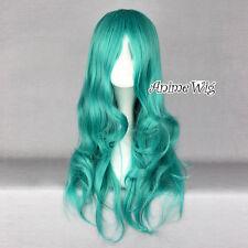 Sailor Moon Neptune Kaiou Michiru Light Green Long Curly Anime Cosplay Hair Wig