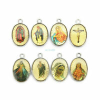 wholesale Catholic Religious Enamel Medals Charms Pendants holy Cross 20Pcs 25mm