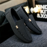 New Men's Casual Lace Slip On Loafer leopard moccasin-gommino Driving Shoes