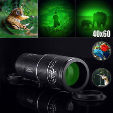 Day&Night Vision 40X60 Hd Optical Monocular Hunting Camping Hiking Telescope Us