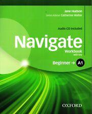 Oxford NAVIGATE A1 Beginner WORKBOOK with Key & Audio CD @NEW@ 9780194566278