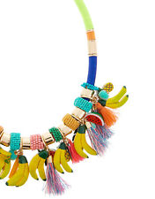NEW NWT MONSOON ACCESSORIZE TROPICAL FRUIT BANANA WATERMELON STATEMENT NECKLACE