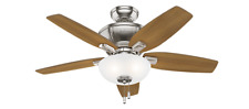 "Hunter  42"" Kenbridge Brushed Nickel Ceiling Fan with Light"