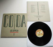 Led Zeppelin - Coda 1982 German Swan Song 1st Press LP Inner & Embossed Cover