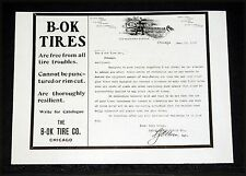 1904 OLD MAGAZINE PRINT AD, B-OK TIRES, ARE FREE FROM ALL TROUBLES & RESILIENT!