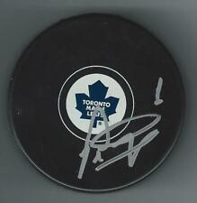 Peter Ing Signed Toronto Maple Leafs Puck
