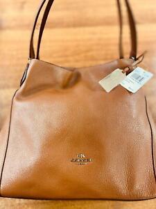 COACH Coach Brown Leather Edie Shoulder Bag - MSRP $395