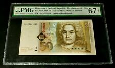GERMANY FEDERAL REPUBLIC 50 mark 1996 REPLACEMENT! PMG 67 EPQ Superb Gem UNC!