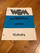 Genuine Original Kubota Sx700 Tiller Operators Operation Manual