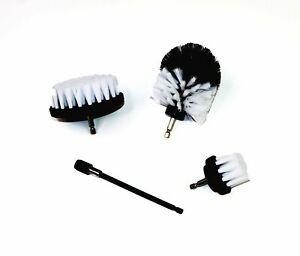 """Drill Brush Set 4 Piece Including 6"""" Extension - Free Same Day Shipping from USA"""