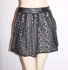 alice in the eve Designer Black Lace Scallop Skirt Size XXS BNWT #SQ30