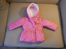 Steve Madden Pink Baby Girl Infant Jacket Coat Hoodie 18 Month New