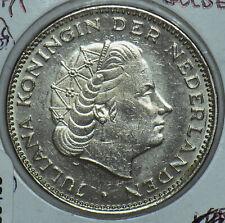 Netherlands 1971 2 1/2 Gulden Lion animal 150465 combine