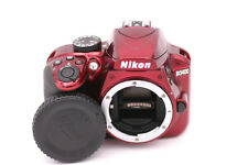 Nikon D D3400 24.2MP Digital SLR Camera - Red (Body Only)