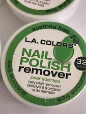 L.A. COLORS 32pc  PIER Nail Polish REMOVER Acetone Free  PADS