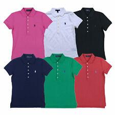 Polo Ralph Lauren para Mujer Classic Fit Camisa Polo De Enclavamiento suave S M L Nuevo Nuevo Con Etiquetas