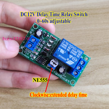 DC 12V 5mA NE555 0-60 Seconds Delay OFF Relay Timer Switch Module With Indicator
