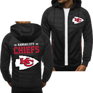 Kansas City Chiefs Fans Hoodie Sporty Jacket Zip up Coat Autumn Sweater Tops
