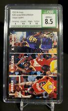 1993-94 Hoops #283 League Leader CSG 8.5 NM/Mint+ Michael Jordan/Wilkins/Malone