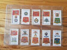 Full Set Player's Antique Badges & Flags Of British Regiments Good Condition