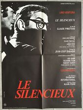 Affiche LE SILENCIEUX Claude Pinoteau LINO VENTURA Leo Genn 60x80cm *