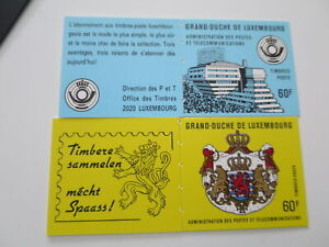 LUXEMBOURG Two booklets  mnh**/dt0654