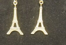 TWO 18K GOLD PLATED EIFFEL TOWER CHARM  1 1/2'' IN LENGHT