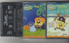 Kassetten Sammlung Abenteuer Angebot, Spongebob Schwammkopf 8,9 + Käptn Blau