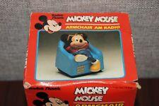 Radio Shack Mickey Mouse Armchair AM Radio 12-910 - New, Slightly Damaged Box