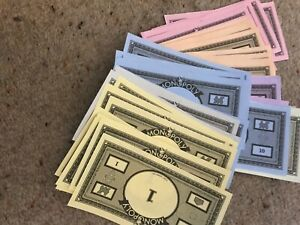 Monopoly Game, Batch Of Play Money. Genuine Parker Games Parts.