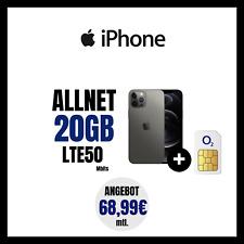 Handyvertrag Handytarif O2 Allnet Flat SMS 20 GB LTE  iPhone 12 Pro 68,99 mtl
