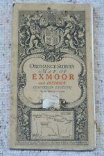 Ordnance Survey Third Edition 1-inch map Sheet 120 of Exmoor, on cloth, 1912