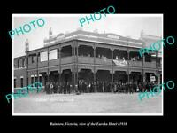 OLD POSTCARD SIZE PHOTO OF RAINBOW VICTORIA VIEW OF THE EUREKA HOTEL c1910