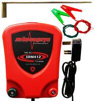 Electric Fence Energiser Mains Powered SRM412 1.2J Fencer Unit