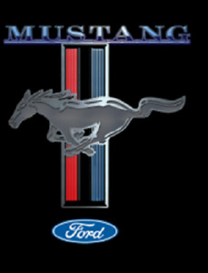 MUSTANG  LOGO  USA IMPORT T-SHIRT SS COTTON KIDS AND ADULTS SIZES