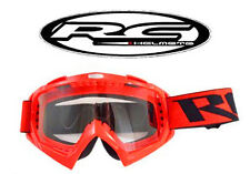 Lunette scooter moto cross RC Rouge / Masque NEUF Shark Shoei Fox