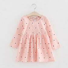 Kids Toddler Baby Girl Long Sleeve Floral Bowknot Party Princess Tutu Dresses UK