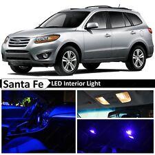 10x Blue Interior Map Dome LED Lights Package Kit Fit 2007-2012 Hyundai Santa Fe