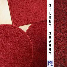 SILENT Shaggy Rot  kleine Teppiche, Vorlagen, Fußmatten und runde Deko Points
