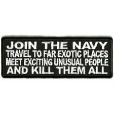JOIN THE NAVY #2 VETERAN MILITARY IRON ON EMBROIDERED BIKER PATCH