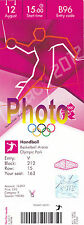 Photo Ticket Billet London 2012 Finale Handball Suède France Jeux Olympiques