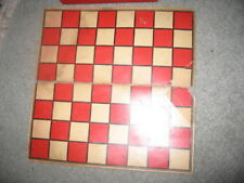 vintage wooden draughts set and board