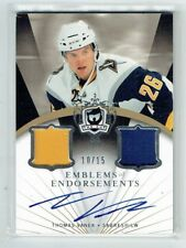 07-08 UD The Cup Emblems of Endorsements  Thomas Vanek  /15  Auto  Patches