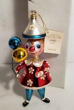 LMAS ~ Laved Italian Glass Ornament - Clown w Balloons Lt Ed