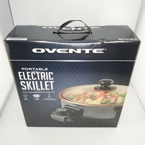 Ovente portable Electric Skillet With Tempered Glass Lid 1400 Watts