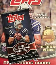2012 Topps Football Hobby Pack Fresh from Box Andrew Luck Rookie year