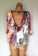Anthropologie Weston Wear Cropped Stretch Open Back Shirt Top Womens XS 0 2