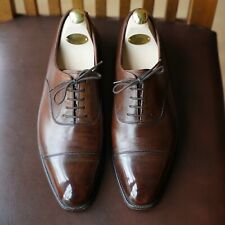 Beautiful Crockett & Jones Size 9E Handgrade 'Audley' - Dark Brown Antique Calf