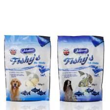 Johnsons FISHYS DOG TREATS Puppy Natural White Fish Skins Potato Cubes Biscuits
