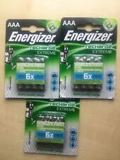 12 x Energizer AAA Recharge Extreme 800 mAh  Rechargeable Batteries